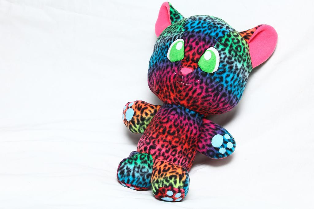 """Most recent image: [FOR SALE] """"Lisa Frank"""" Inspired Leopard Plush: Front View"""