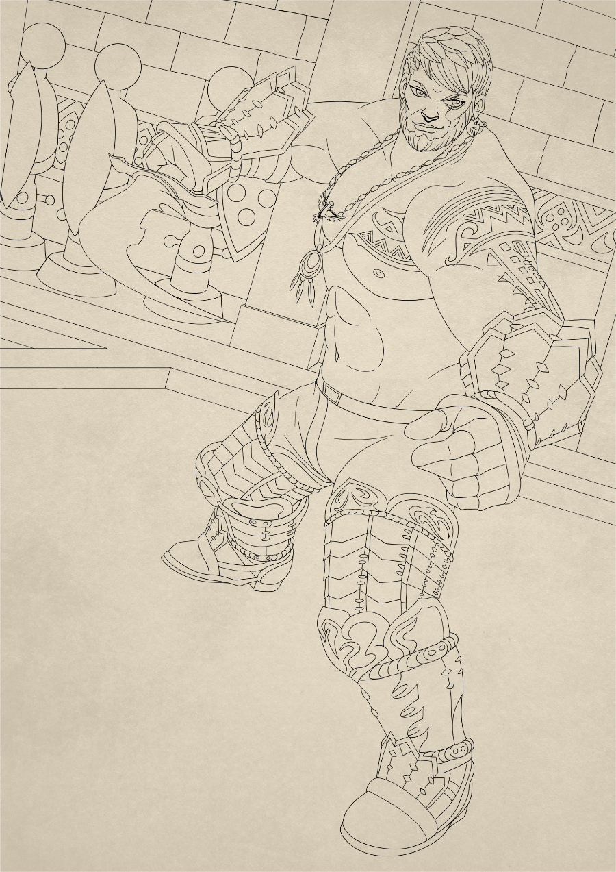 Most recent image: Red Wind the Gladiator Inks