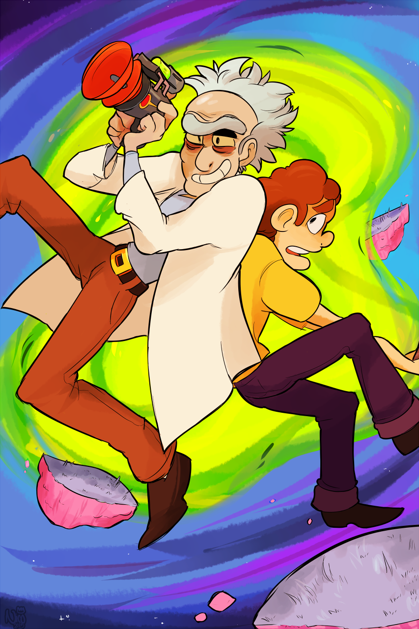 let's have a wacky space adventure morty