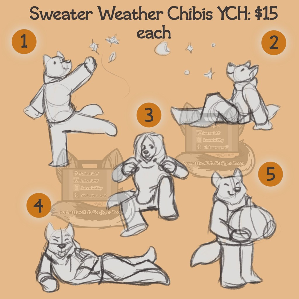 Sweater Weather YCH MkII $15 per slot