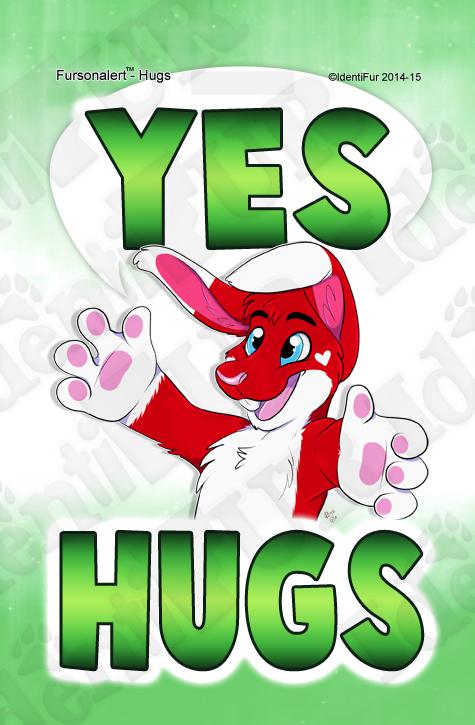 Yes Hugs Badge
