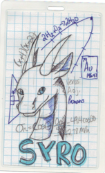 "Syro ""Note Page"" Badge (FWA 2014)"