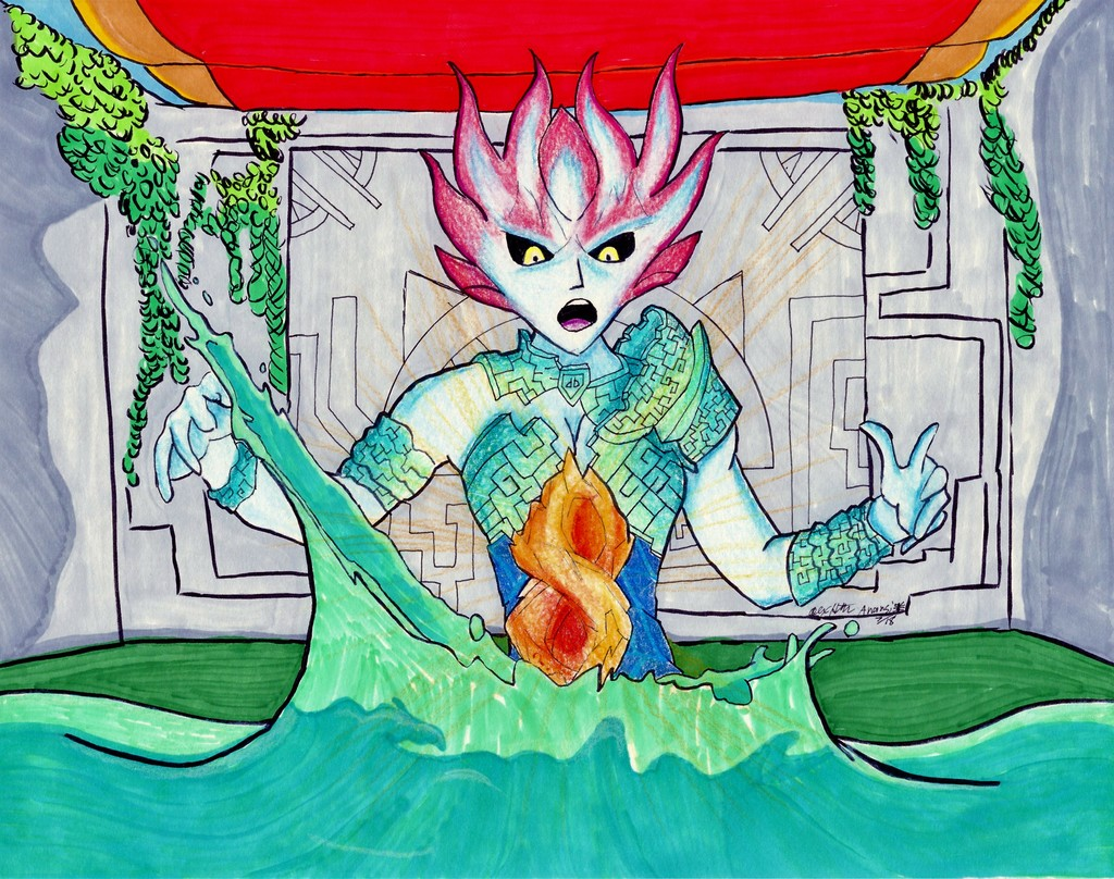 Most recent image: Dungeons/Dragons, Mala the Merfolk Wizard