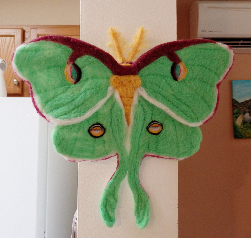 Needle Felted Luna Moth Wall Decor