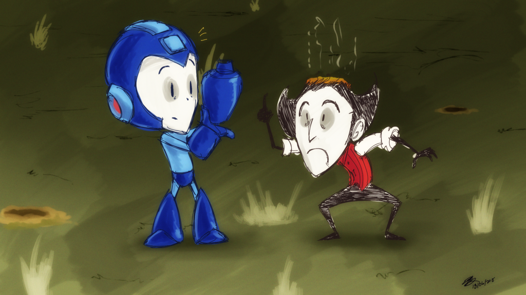 Wilson meets Mega Man