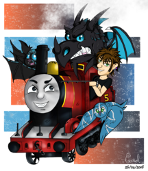 [parody art] That crazy train ...