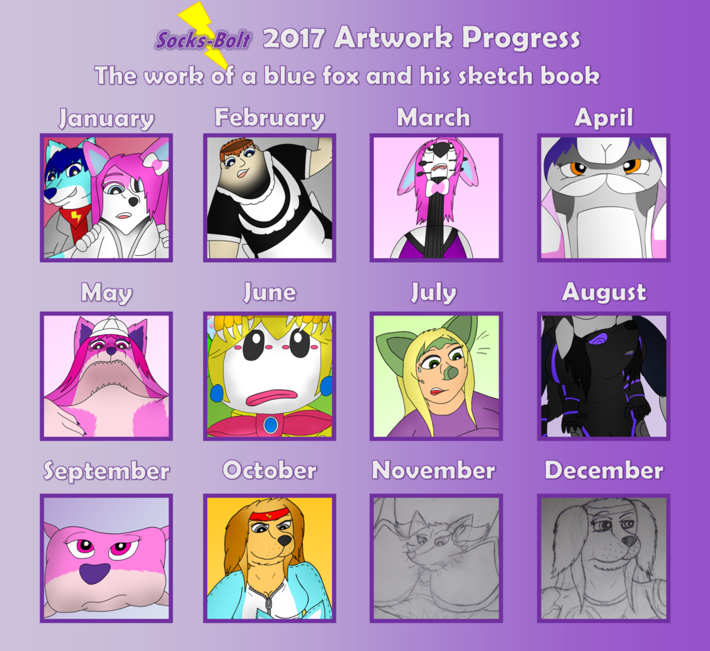 Most recent image: 2017 Art Progress Sheet