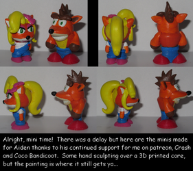Crash and Coco minis for Aiden