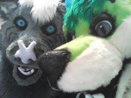 Khahak and I at FurFright 2013!