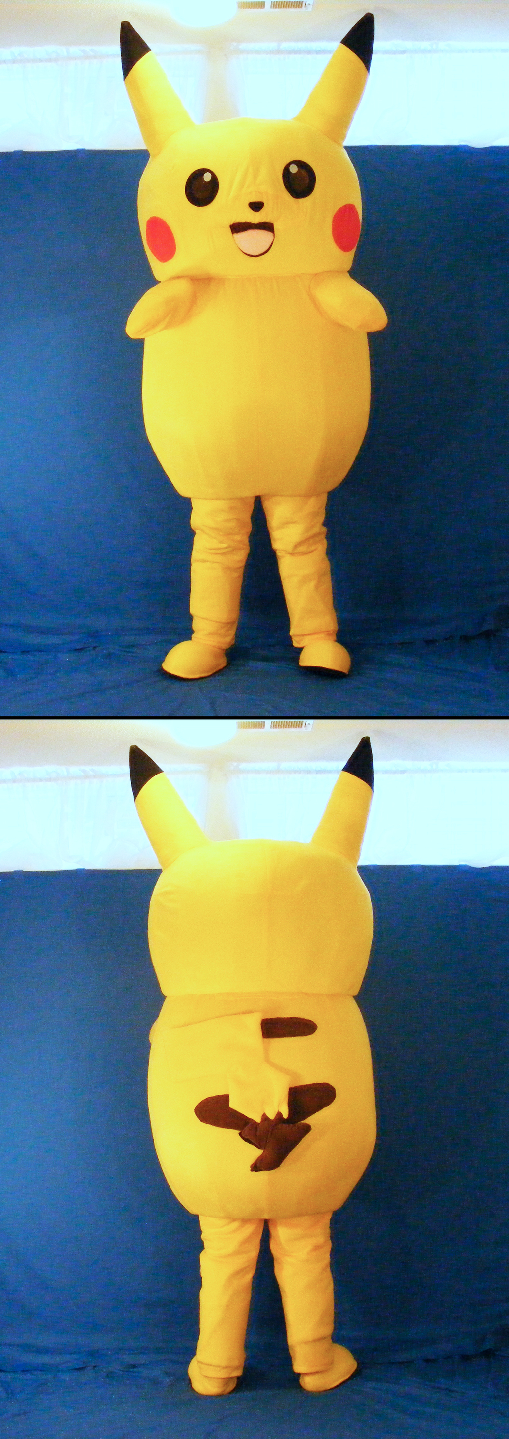Pikachu Mascot Suit (Front And Back)
