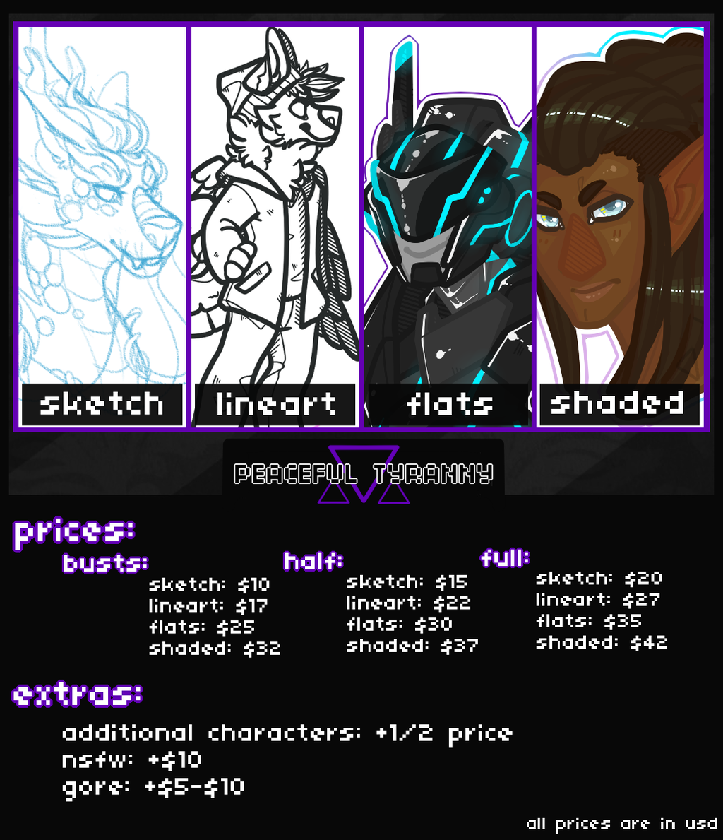 Most recent image: 2015 commission prices