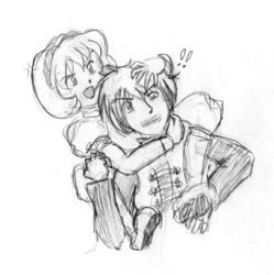 Adol and Nanami