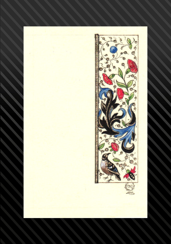 Most recent image: mary of Burgundy Tiny Bird Scroll
