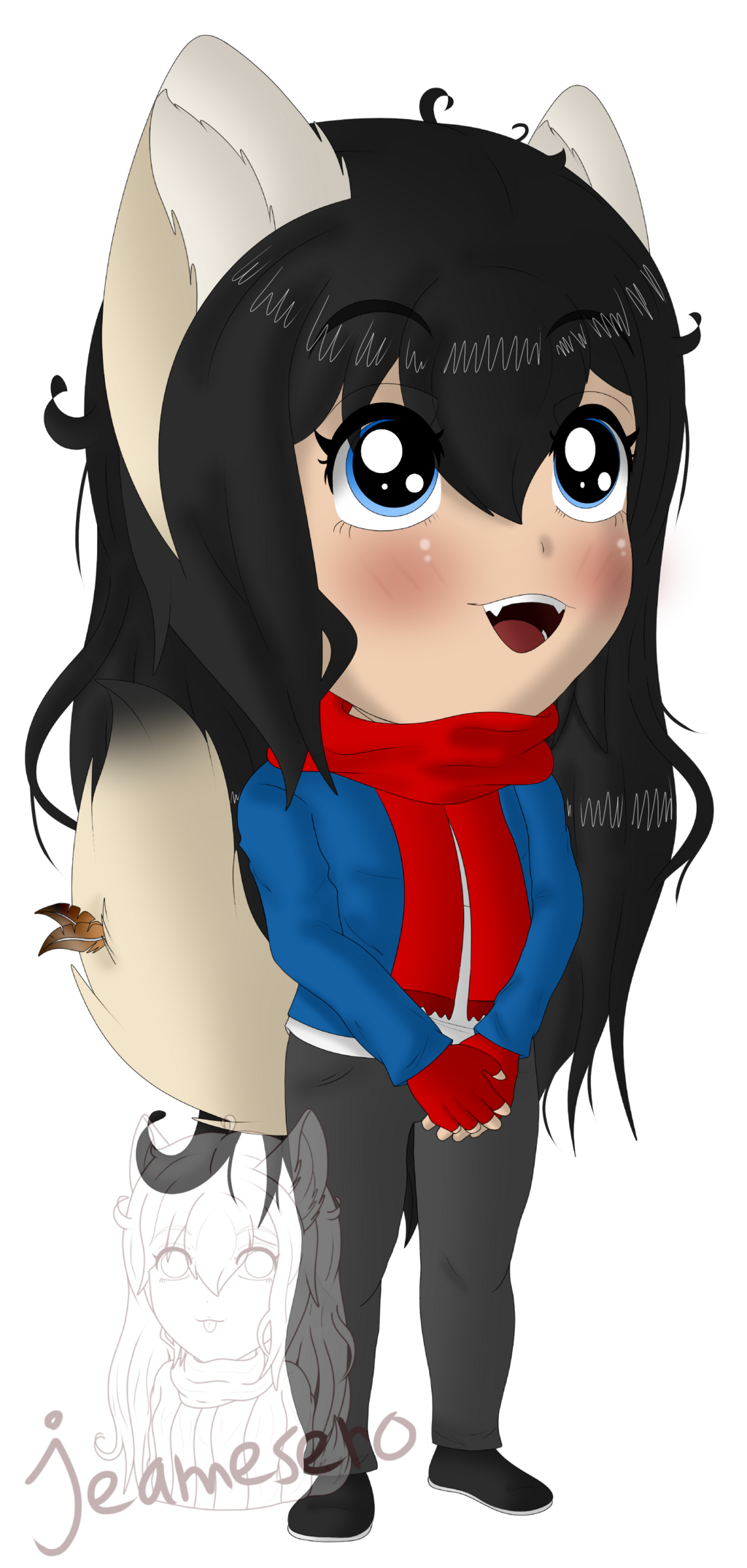 Chibi colored and shaded sketch 2.0