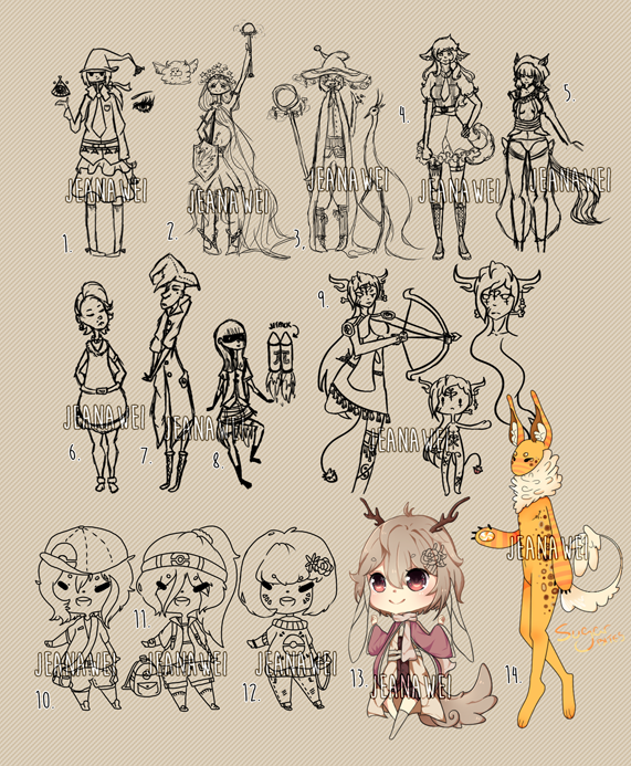 Most recent image: WIP Adopts Sale [OPEN]