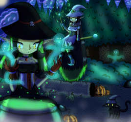 The Witches on Halloween Night