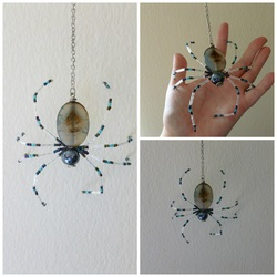 Hanging Beaded Spider