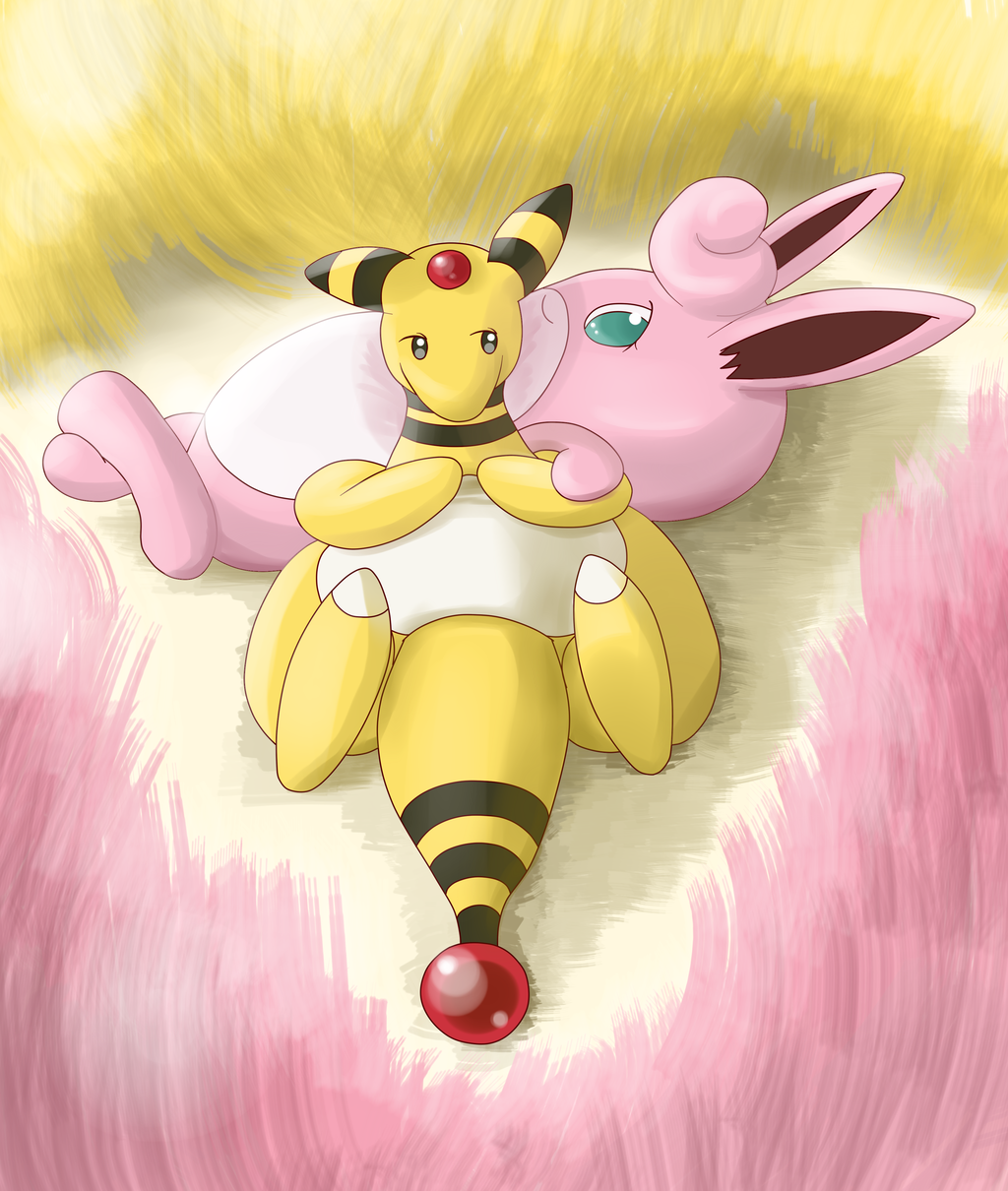 Lazy (Ampharos and Wigglytuff)
