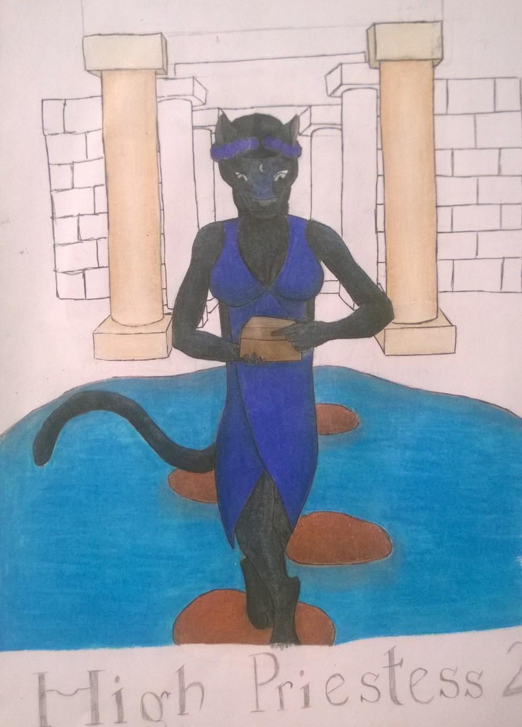 Anthro Tarot Deck The High Priestess