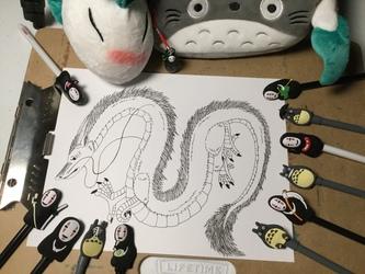 The Totoro Pencil Case: Haku