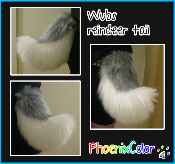 Wubs reindeer tail by PhoenixColor Crafts  sc 1 st  Weasyl & Wubs reindeer tail u2014 Weasyl