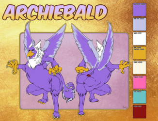 Reference sheet Archiebald SFW version