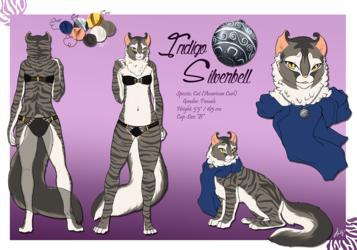 Ref sheet: Indigo Silverbell(SFW) September 2014 Update