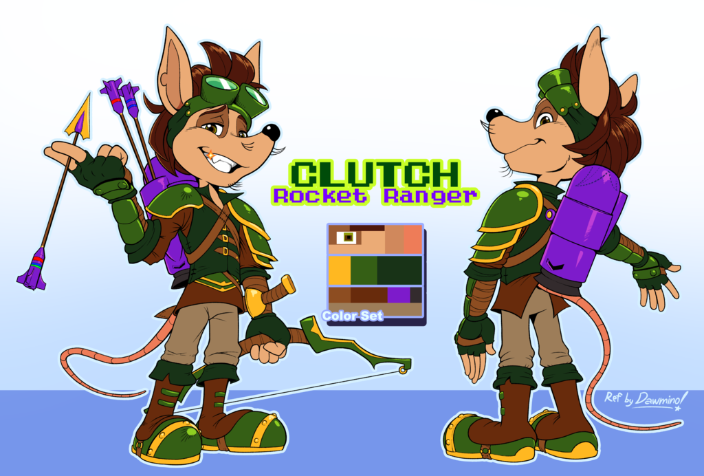 Clutch - Rocket Knight Adventures OC by Spex