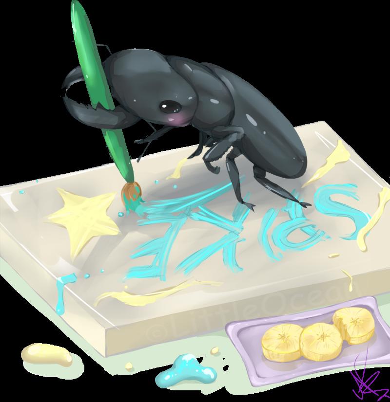 Cute little artist