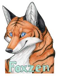 Foxzen Badge - Art by Korrok
