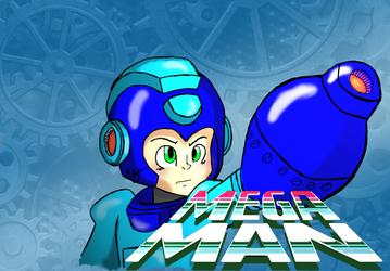Blue & Cyan Mega Man