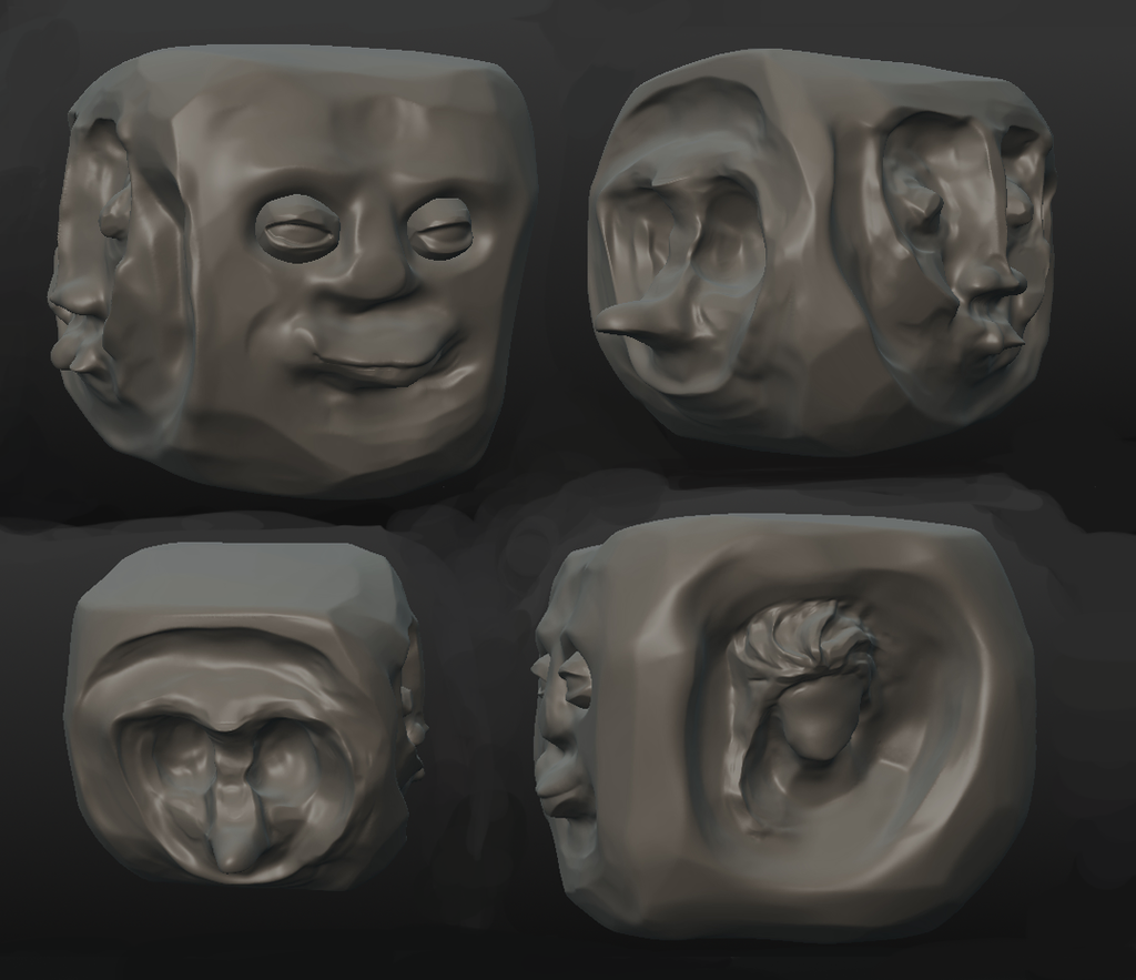 The Four-Faced Cube
