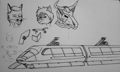 Sketchbook Doodle Page ft TRAIN!