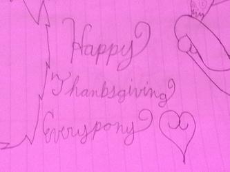 Happy Thanksgiving Everypony!!!