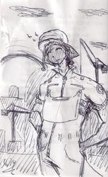 receipt sketch: dock worker cio