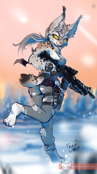Soldier Lynx pinup
