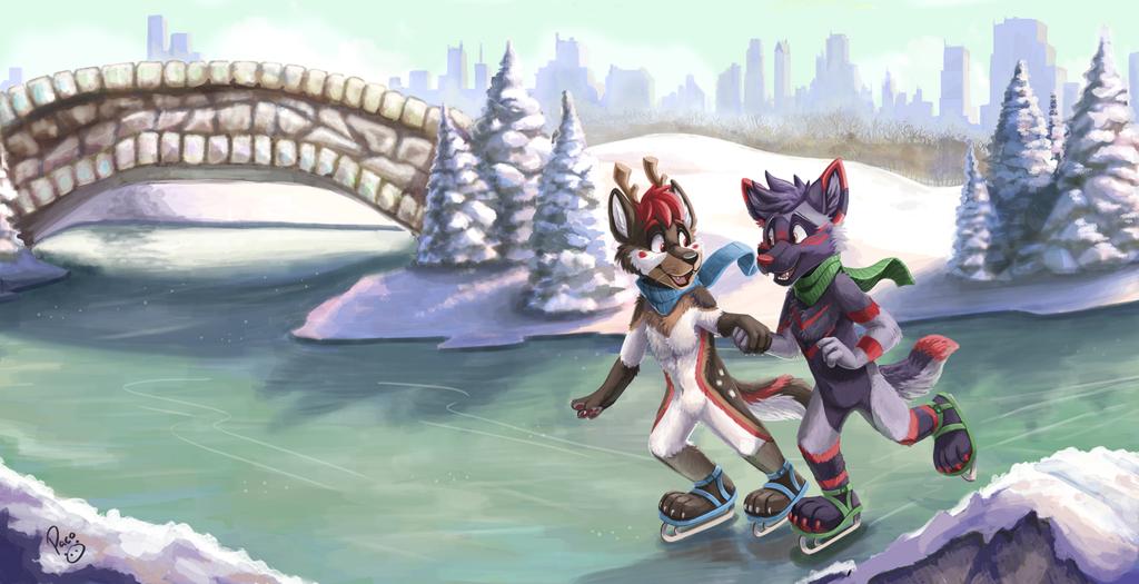 Skating on New York
