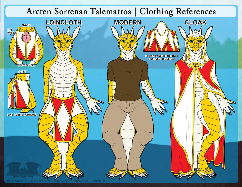 PTR - Arcten Ref Sheet - Clothing