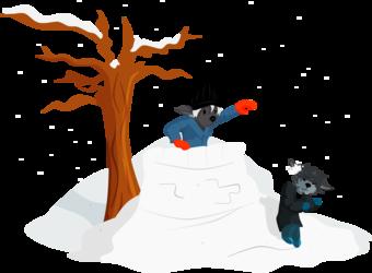 Snow fort!