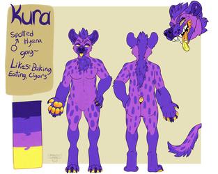 Purple 'Yena Refsheet by MonsterDrool