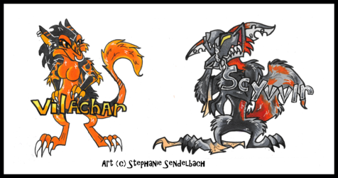 Vilachar and Scyvvir Anthro Badges