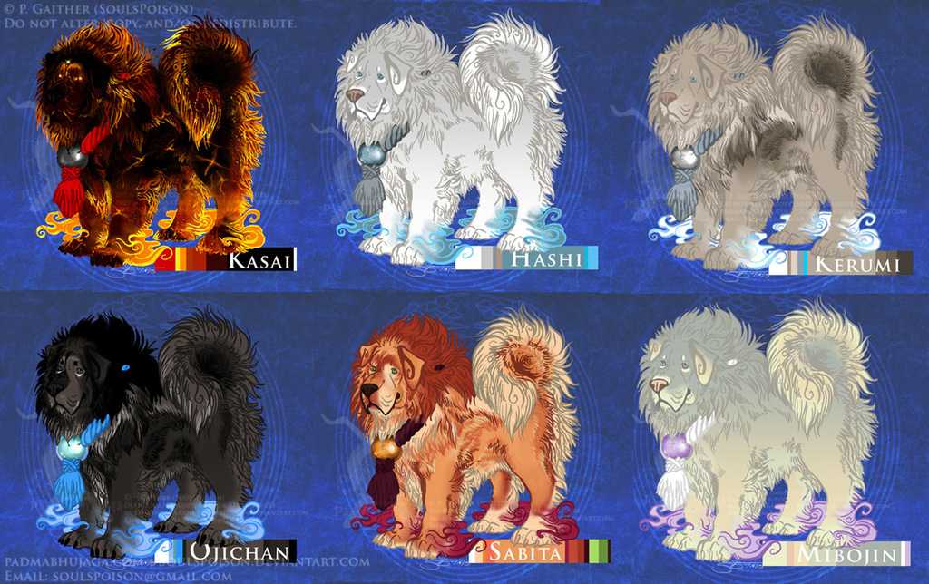 Tibetan Mastiff Inugami Spirits - $5 Each