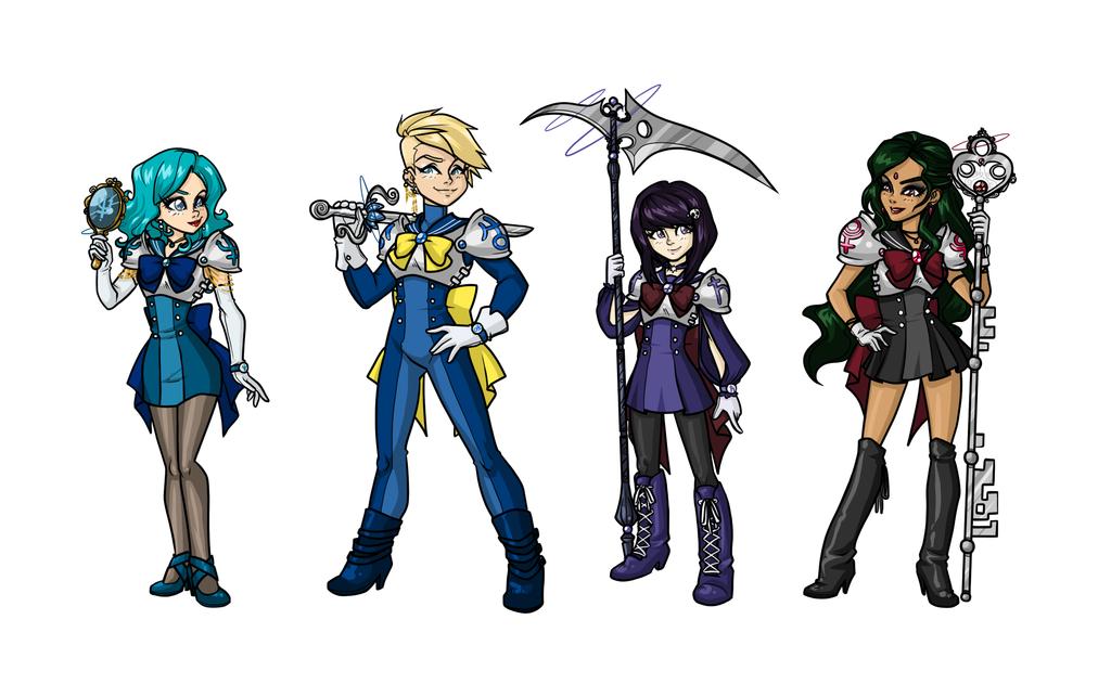 Sailor Moon Redesigns :Outer Senshi: