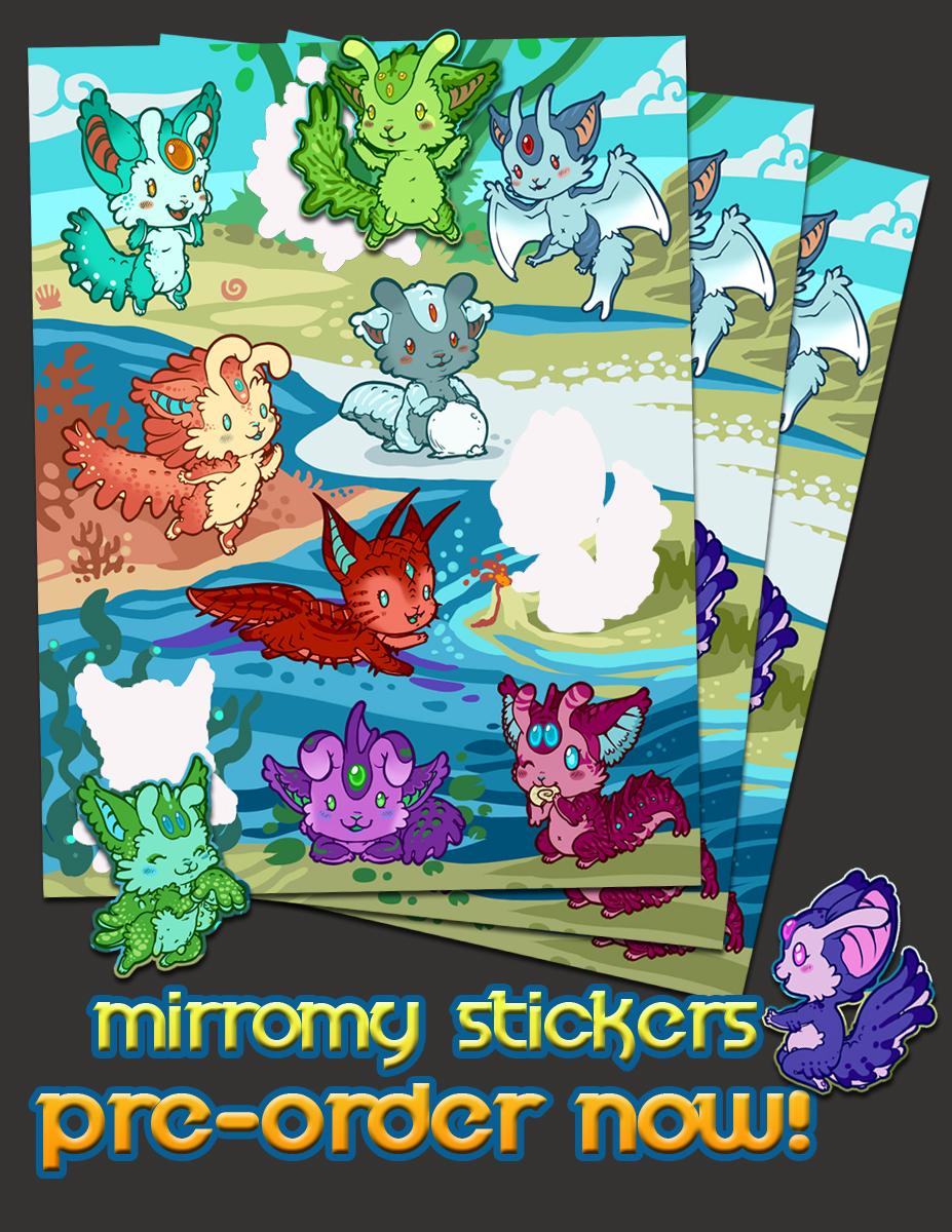 Mirromy Sticker Preorders OPEN NOW!