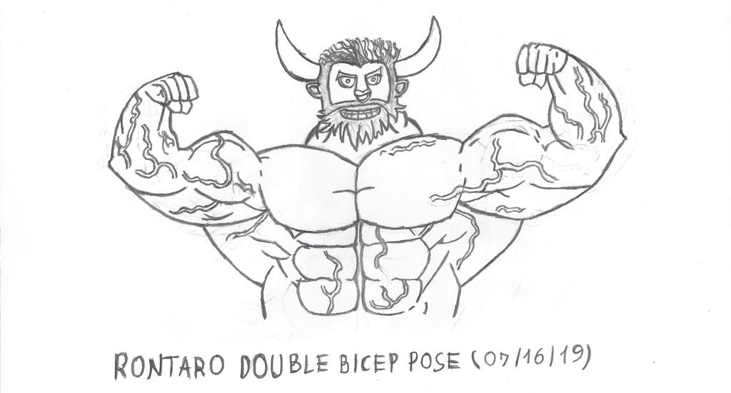 Rontaro Bultor Magno - Posing and flexing