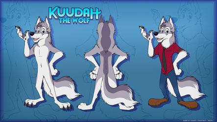 Kuudah Wolf - Reference Sheet (Commission)