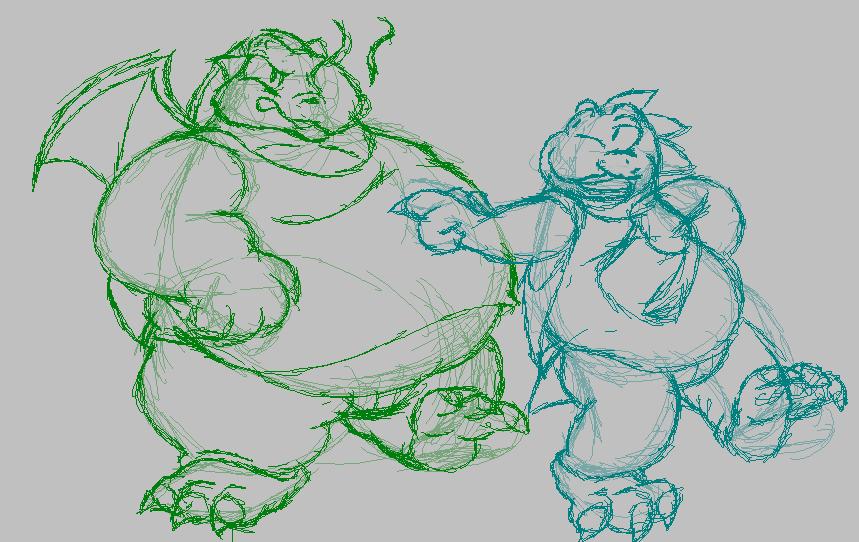Most recent image: 11 '17 - Fygar/Bubble Dragon [Sketch]