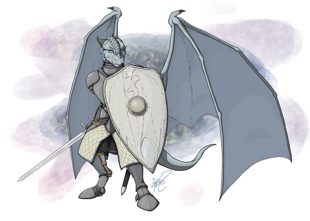 Dragonborn Paladin of Bahamut