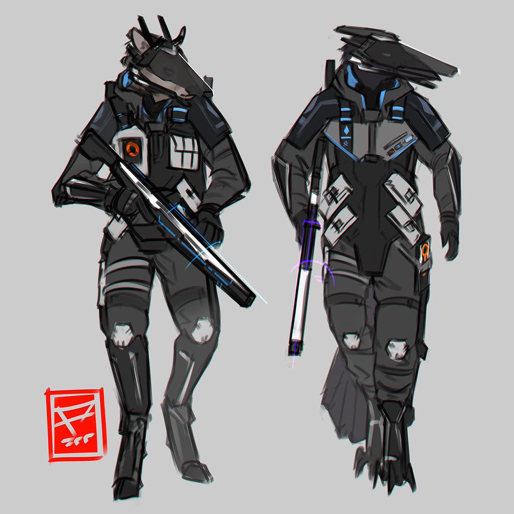 Terran Shock Army doodles