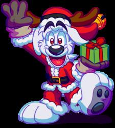 Santa's Toon Reindog 2014